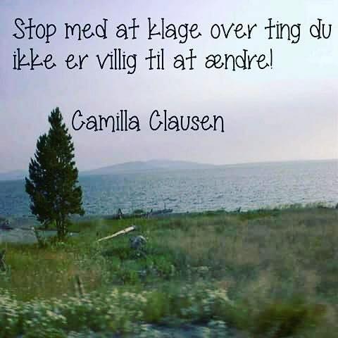 Stop med at klage…