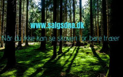 Når du ikke kan se skoven for bare træer!